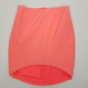 Finders Keepers SZ M peach high low pencil skirt